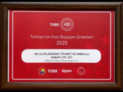 TOBB 100 ödülümüz